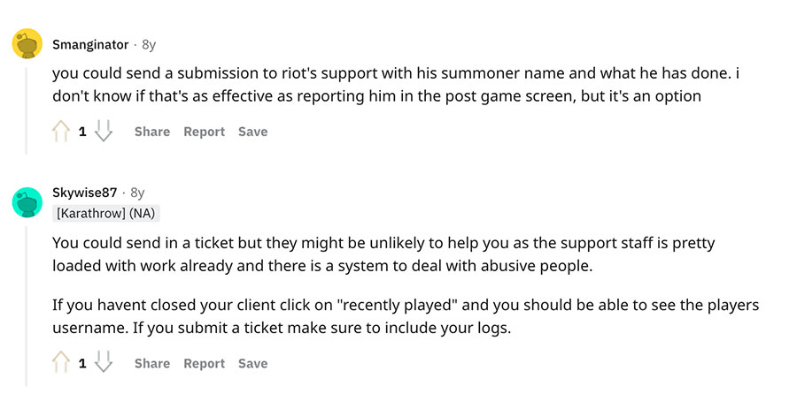 How to Report a LoL Player